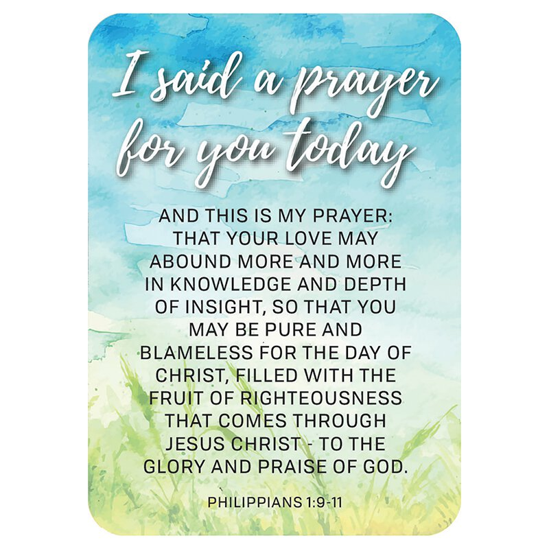 Verse Card - I Said a Prayer for you Today Paper 2 5